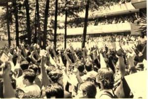 Fotografía de archivo, Movimiento Estudiantil. Huelga en la UNAM 1999.